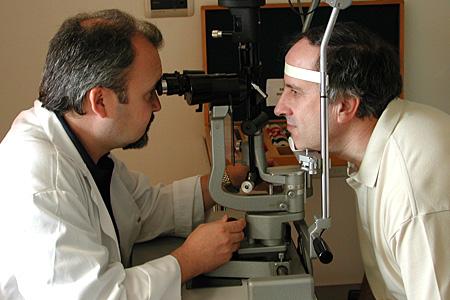 prueba de Oftalmología