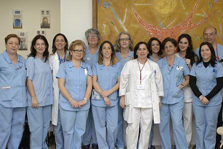 Hospital de día, personal de enfermería