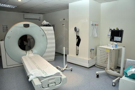 Sala 3 TAC. Hospital General (urgencias)