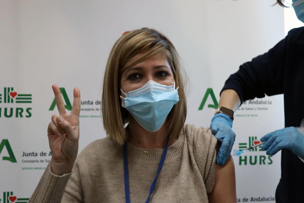 Facultativo del hospital vacunada hoy