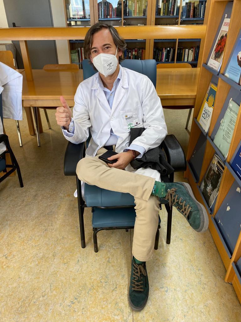 Profesional vacunado