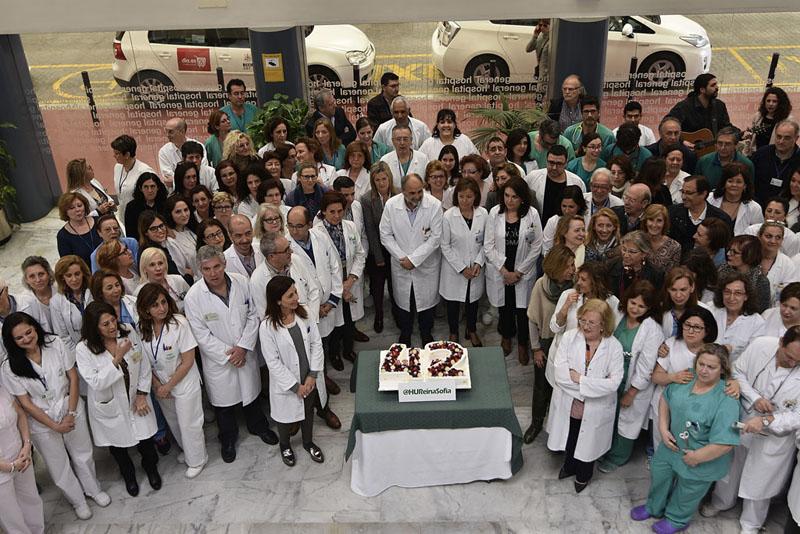 Los profesionales del Hospital Universitario Reina Sofía celebran el 42 aniversario del centro
