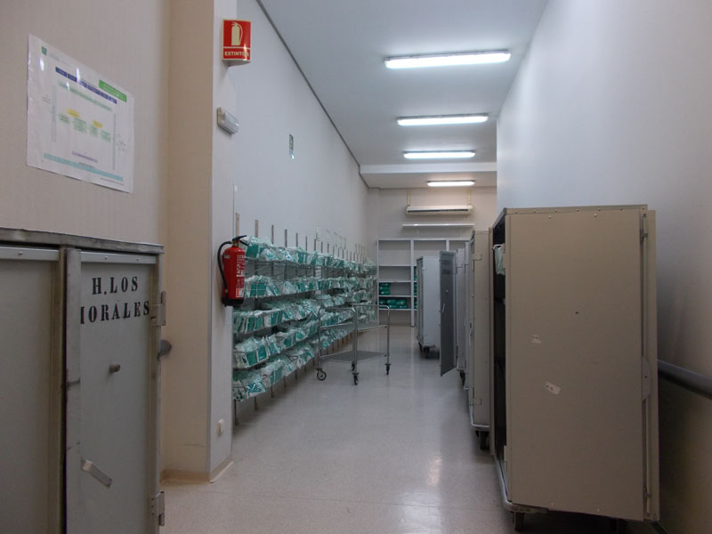 Zona almacén textil esteril