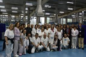 El equipo de Lavandería del Hospital Reina Sofía obtiene el certificado de calidad de tratamiento e higiene del textil