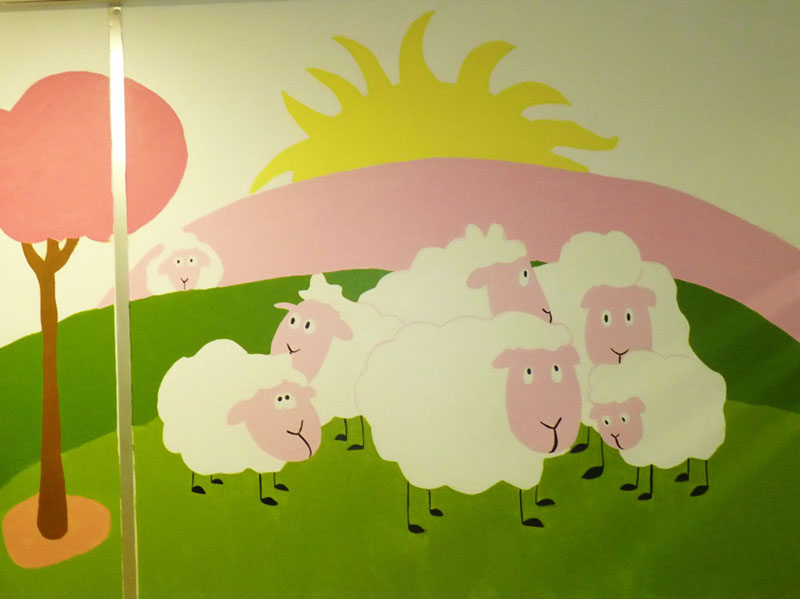 Las ovejitas esperando en la consulta de Alergia