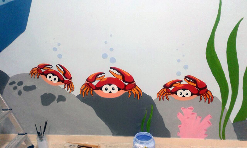 Cangrejos para animar la estancia de los más pequeños.