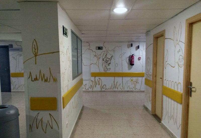Vista de otra zona del mural
