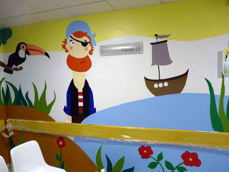 El mural de la isla casi terminado