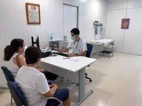 Consulta de neumología y alergia pediatrica en el CCP