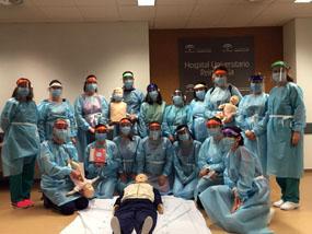 El Hospital imparte el primer curso de RCP en la  pandemia por Covid-19