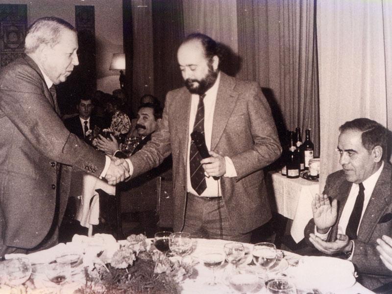 Despedida del que fuera director gerente del hospital Gabriel Pérez Cobo (1984-1994). 1994