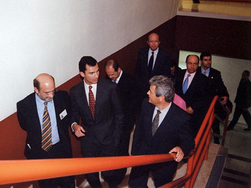 Don Felipe en el Edificio de Gobierno. 2002