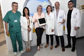 La empresa P&R de bebidas dona un monitor al área de Oncohematología Pediátrica