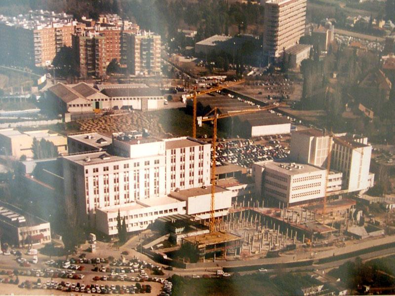 El hospital durante las obras. 2000