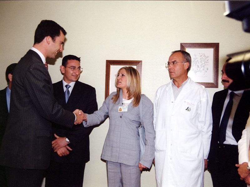 El Príncipe con más profesionales del hospital. 2002