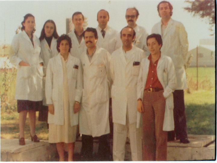 El servicio de hematología en aquellos años, 1977
