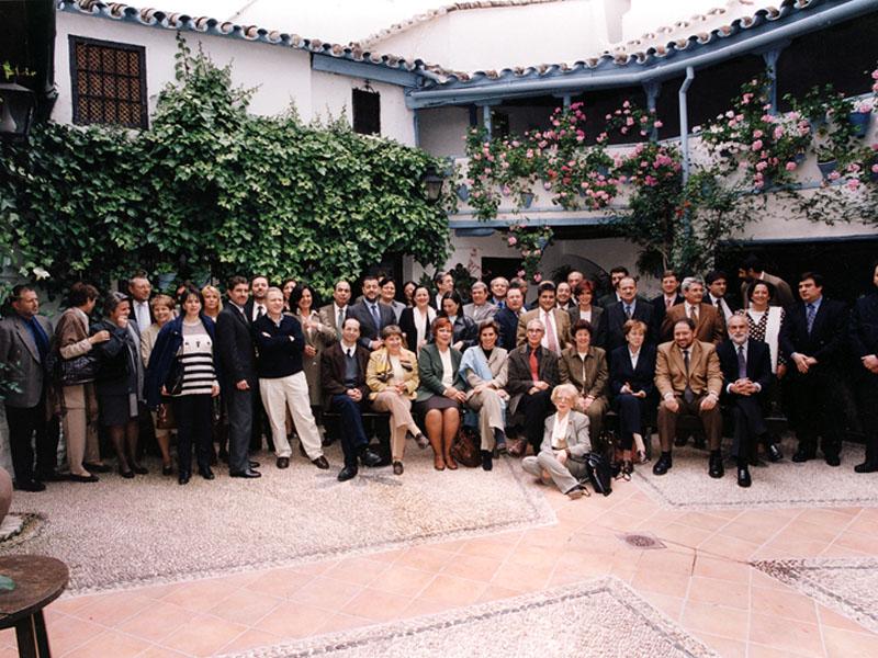 En la despedida del director gerente,José Luis Temes. 2000