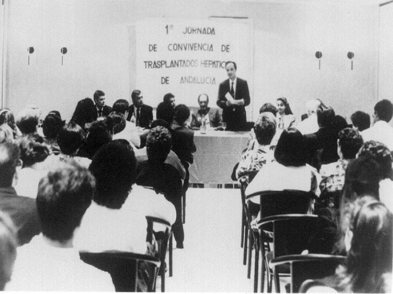 Imagen de la I Jornada de Convivencia de Trasplantados Hepáticos. 1992