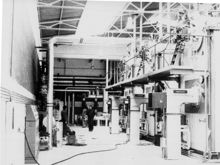 Las instalaciones de la central térmica. 1980
