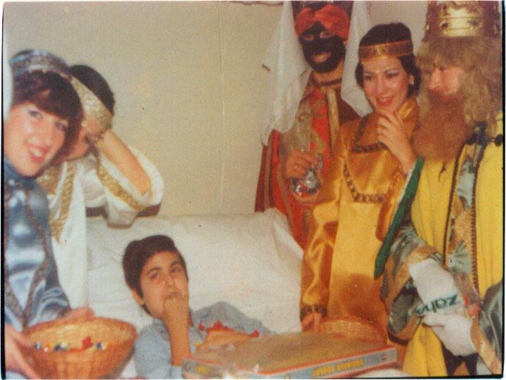 Los reyes magos se cuelan en las habitaciones de los más pequeños. 1979
