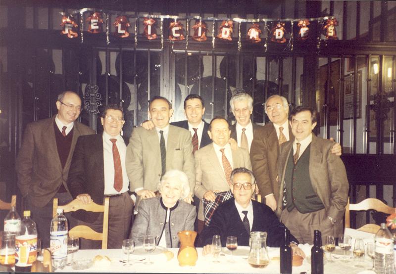 Pediatras en la jubilación de Domingo García. 1995