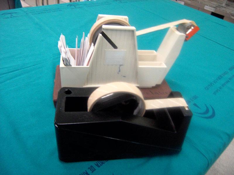 Portarrollos, para Indicador químico externo=cintas adhesivas externas