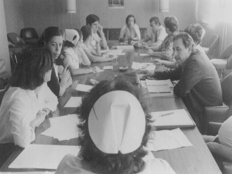 Reunión del comité de empresa. 1981