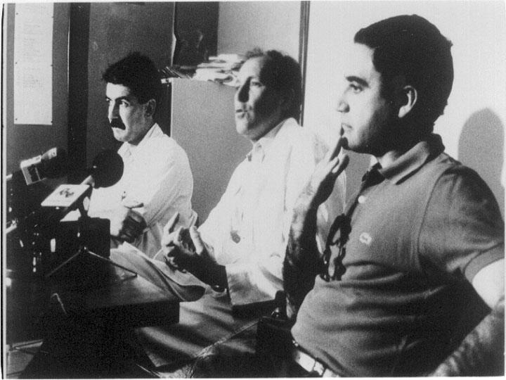 Rueda de prensa celebrada con motivo de la realización del primer trasplante hepático. 1989
