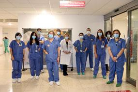 Diferentes especialidades y personal de Enfermería en el bloque quirúrgico