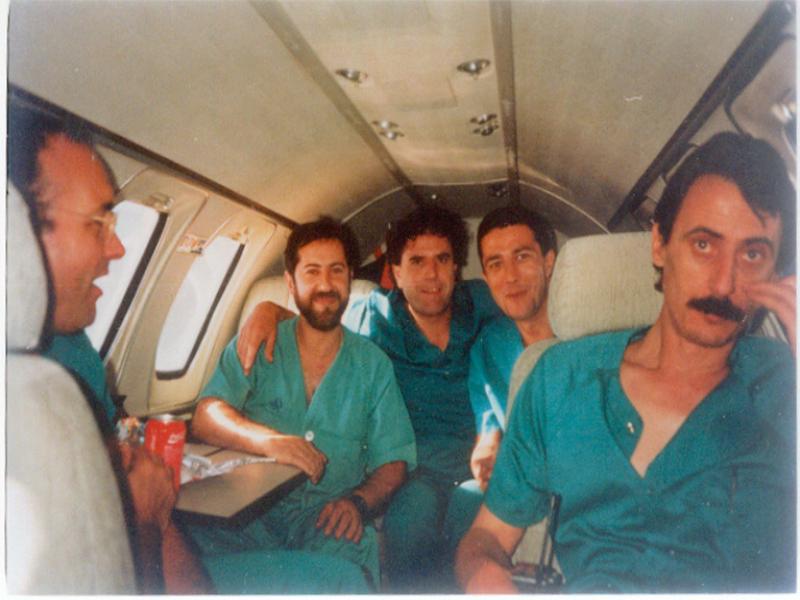 Viaje en busca de un corazón para realizar el primer trasplante. 1986