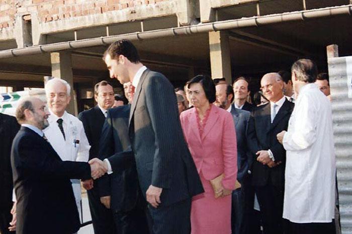 Visita de Don Felipe de Borbón. 2002