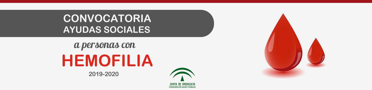 Convocatoria Ayudas Sociales a personas con hemofilia 2019-2020