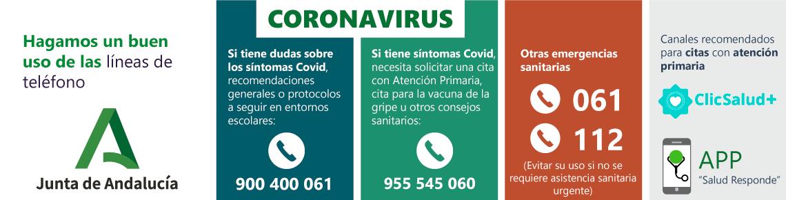 Coronavirus Banner Teléfono